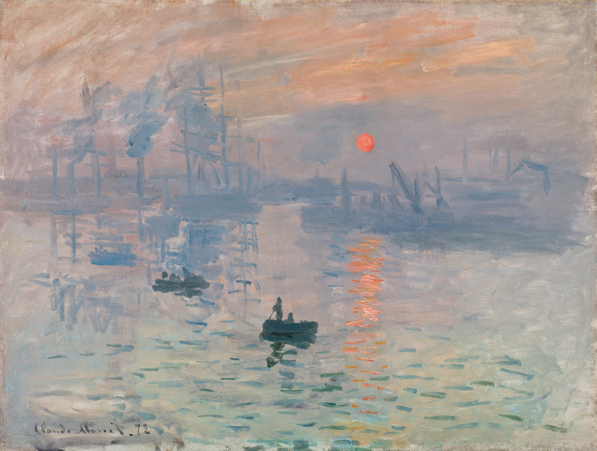 Claude Monet, Impression, soleil levant, 1872 © Musée Marmottan Monet, Paris