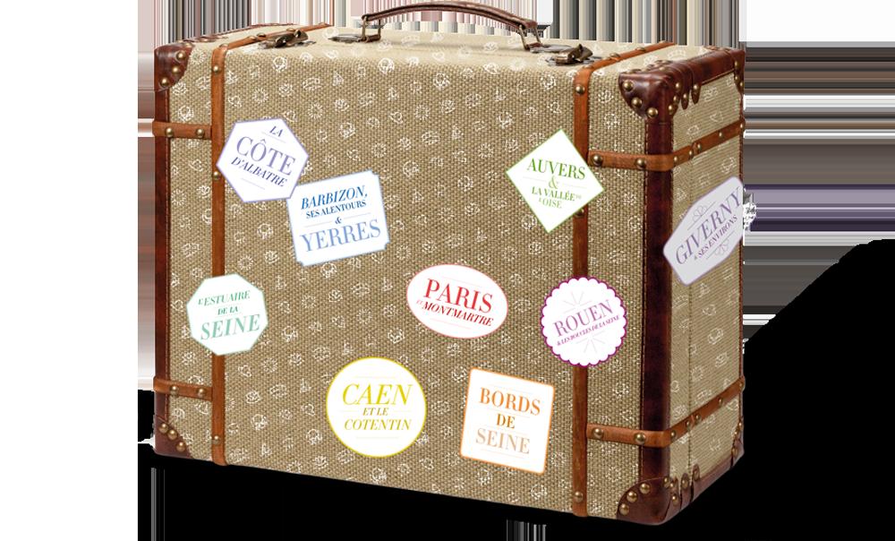 Voyages impressionnistes : la valise et ses 9 destinations