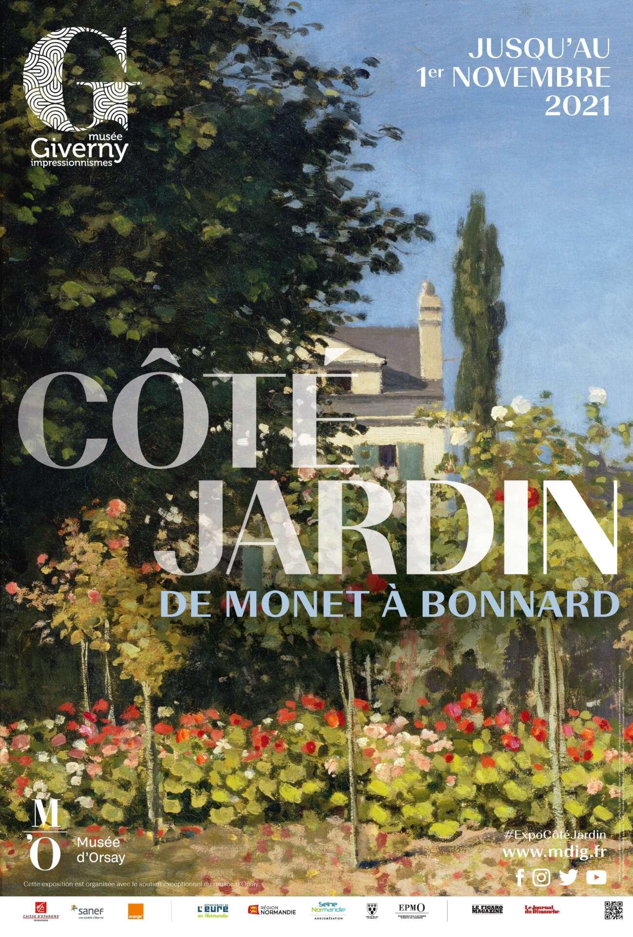Côté jardin, de Monet à Bonnard, affiche de l'exposition au Musée des Impressionnismes Giverny