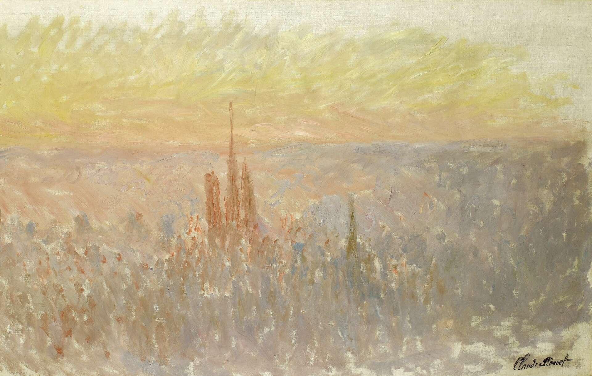 Vue de Rouen et de sa cathédrale, peinte par Claude Monet, Musée des Beaux-Arts de Rouen