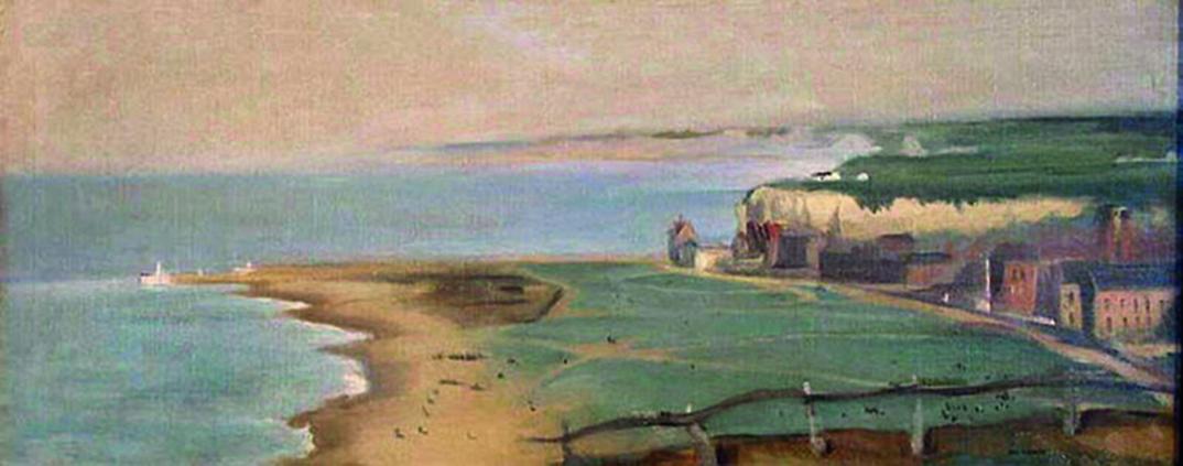 Eva Gonzales, Plage de Dieppe vue depuis la falaise Ouest, © Château-Musée, Dieppe