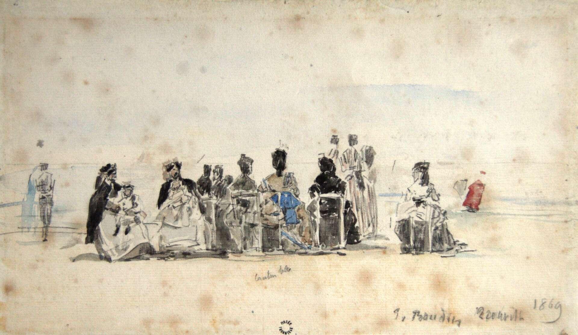 Œuvre d'Eugène Boudin ©Villa Montebello