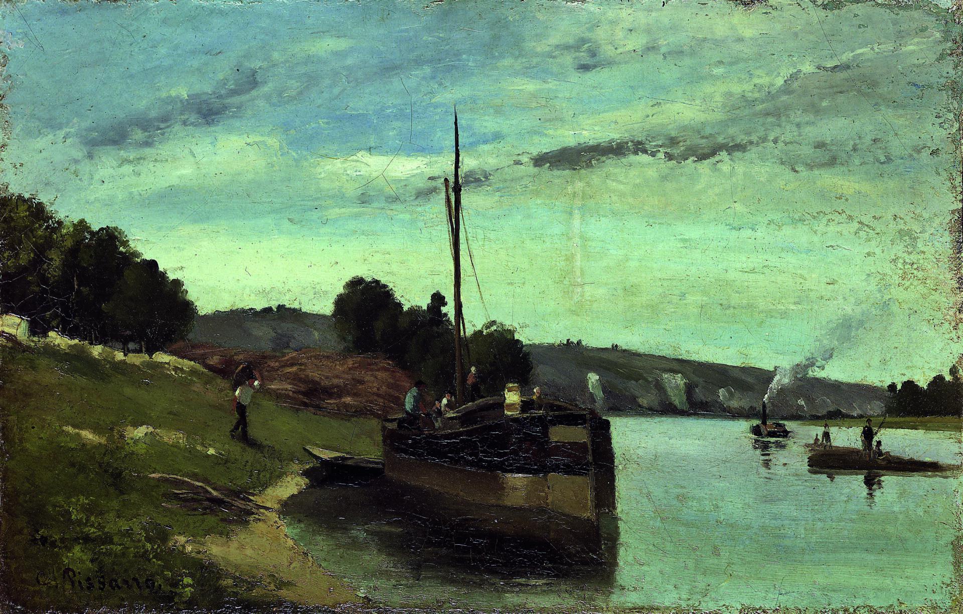 Camille Pissarro, Berges à la Roche-Guyon, 1865 © Musée Camille Pissarro Pontoise