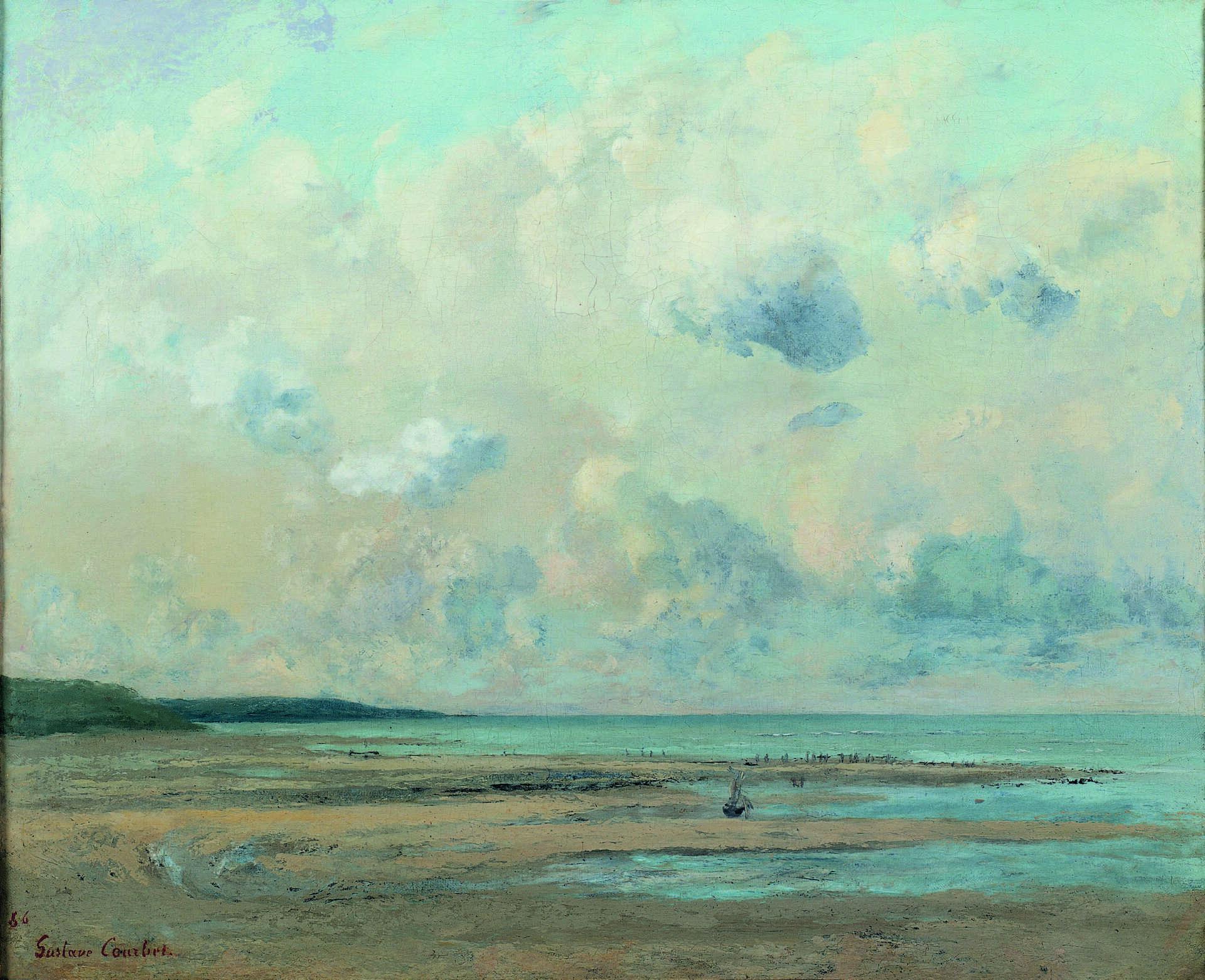 Musée Eugène Boudin, Rivages près de Honfleur de Gustave Courbet @H. Brauner-Musée Eugène Boudin