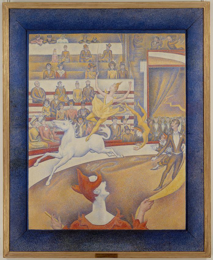 """Exposition """"Signac collectionneur"""", Georges Seurat, Le Cirque, 1891 Copyright Musée d'Orsay, Dist. RMN-Grand Palais Patrice Schmidt"""