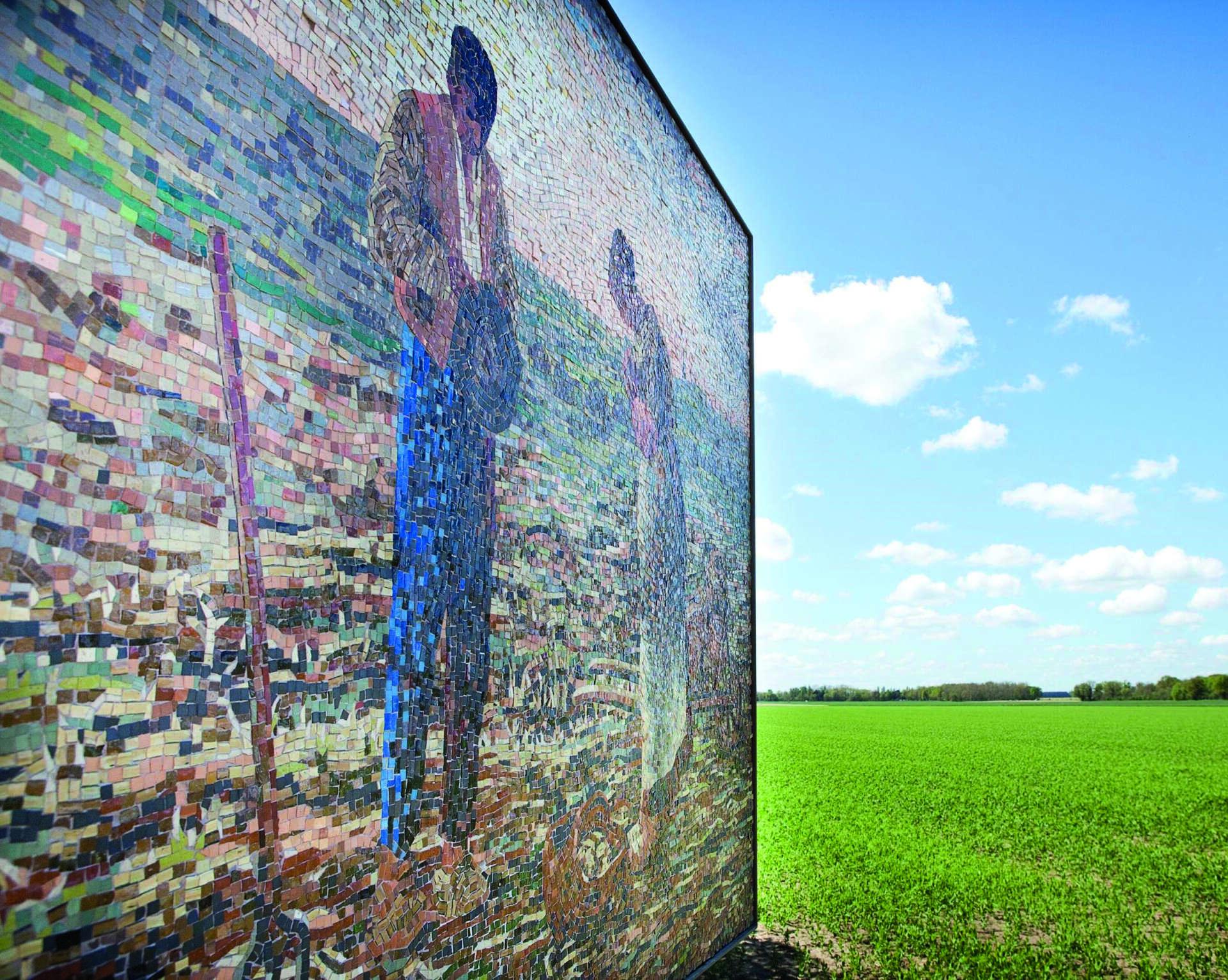 """""""L'Angelus"""" - Mosaïques visuel pour parcours des peintres © Barbizon Tourisme"""