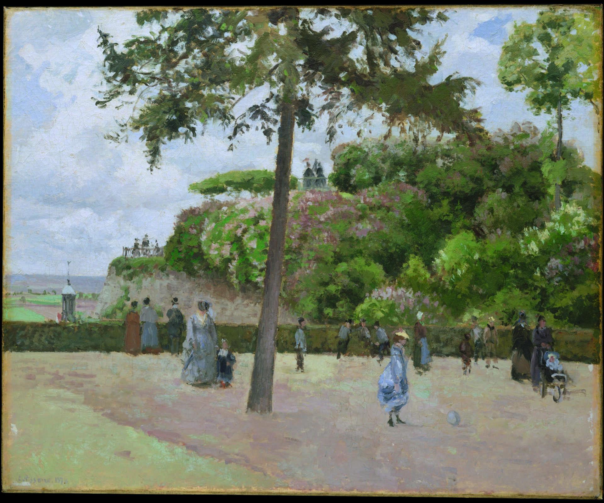 Balades impressionnistes à Pontoise, Camille Pissarro, Le Jardin de la ville de Pontoise © The Metropolitan Museum of Art, New York