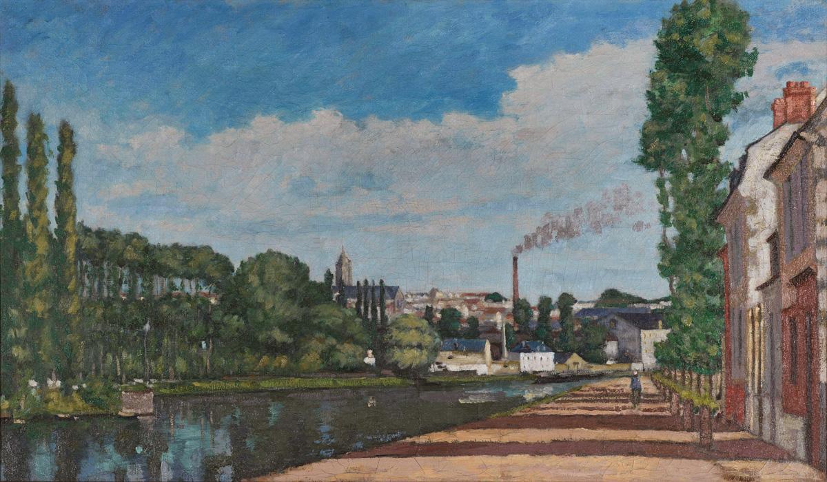 Mois de l'Impressionnisme, Edouard Béliard, Pontoise vue depuis le quartier de l'écluse, 1872, Pontoise, Musée Camille Pissarro, © DR