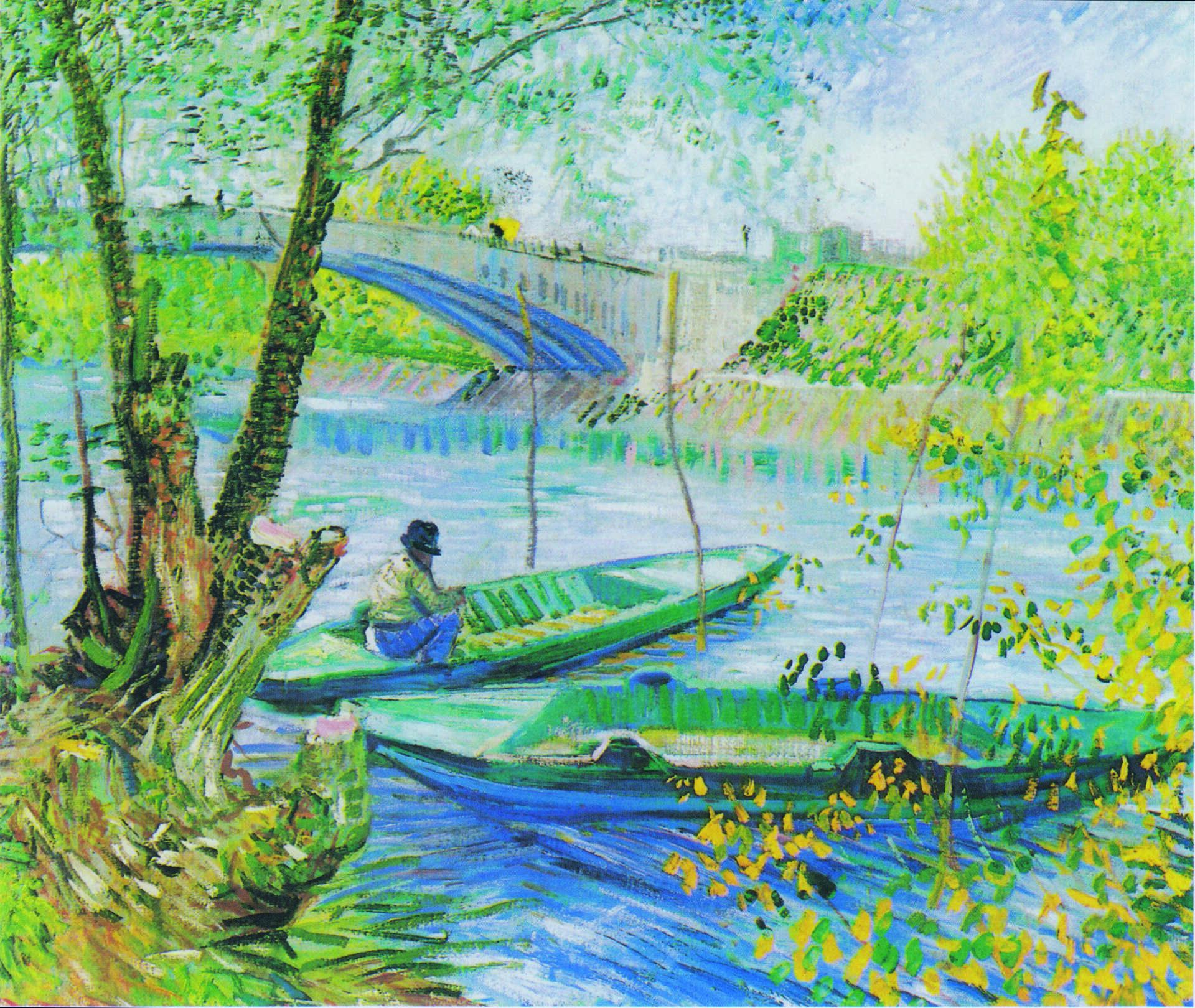 Sur la trace des Impressionnistes à Asnières-sur-Seine, tableau de Van Gogh, La pêche au printemps © Art Institute of Chicago